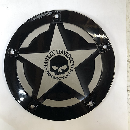 Harley Primary Derby Cover Skull and Star