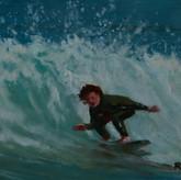 'Surfing at Palm Beach, Sydney'