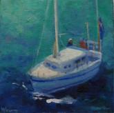 'Passing Boat, Port Phillip'
