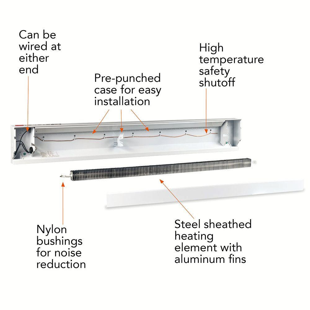 Parts of a Baseboard Heater