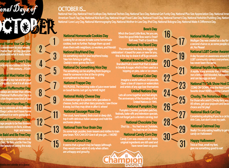 October National Calendar Days