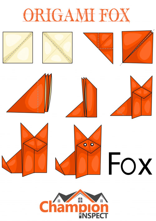How to Make An Origami Fox Face Step By Step - Origami Fox Face ... | 706x500