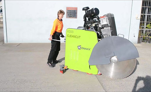 The new Cleancut 6000 series Road Saws are lightweight and easy to manoeuvre