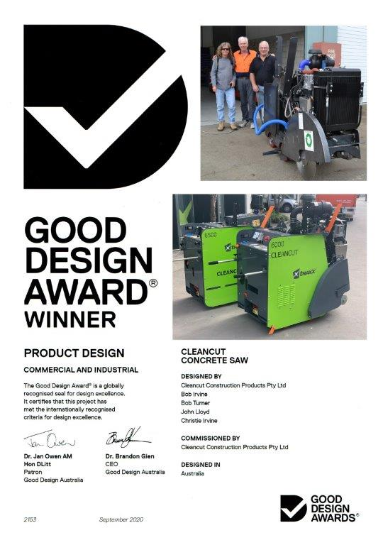 Good Design Award Certificate 2020