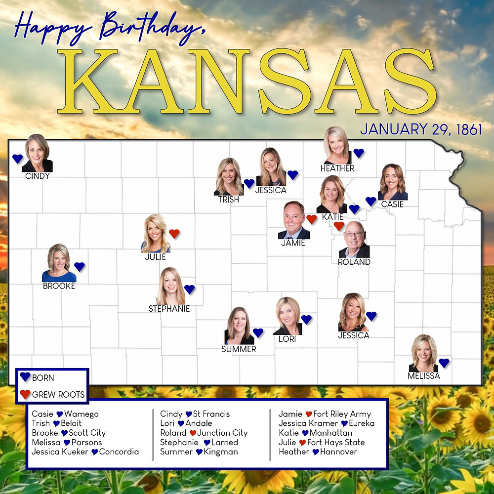 Happy Birthday Kansas January 29th Rockhill Real Estate Group 2020