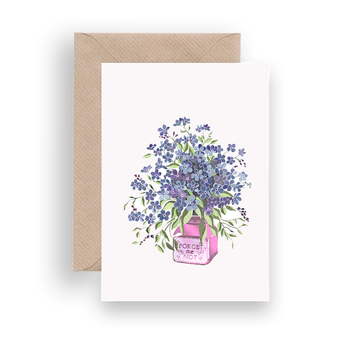 LYKKEFUND FORGET ME NOT - GREETING CARD