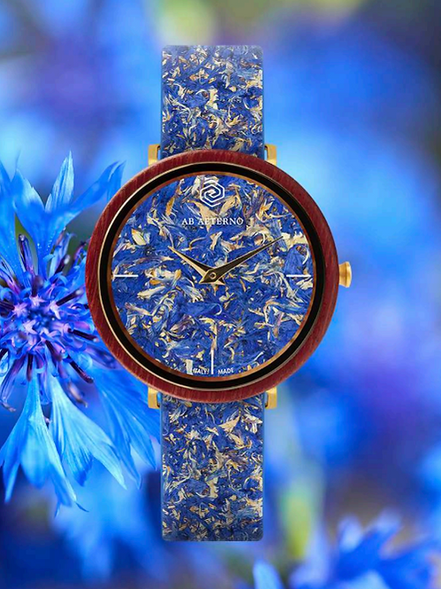 AB AETERNO KORNBLUMEN UHR - FLORA COLLECTION LIBERTY - BLAUFARBEN