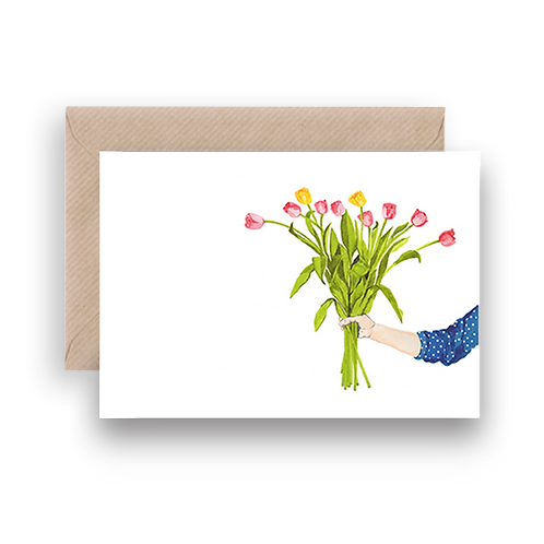 LYKKEFUND TULIP BOUQUET - GREETING CARD