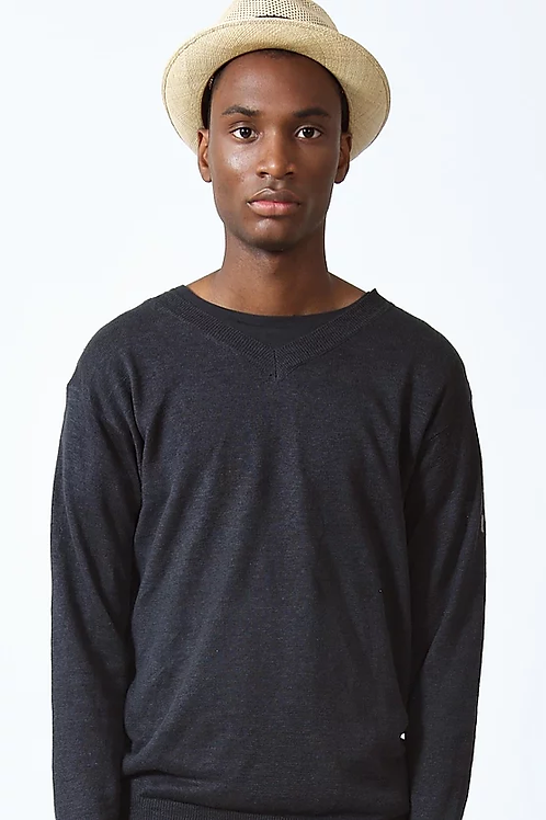 TVOP LINEN KNIT SWEATER - VINTAGE BLACK
