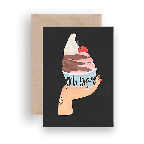 LYKKEFUND ICE CREAM - GREETING CARD