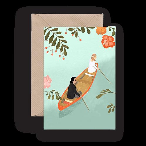 LYKKEFUND CANOE WEDDING - GREETING CARD