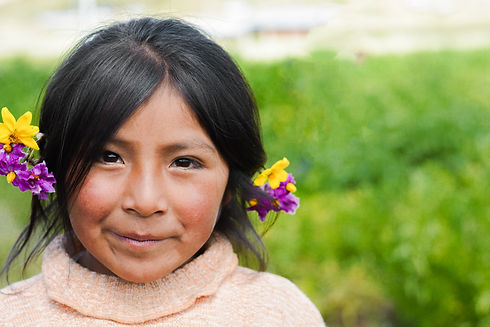 Beautiful native american little girl wi