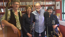 Recording an Under the Apple Tree session with Bob Harris, 4 July