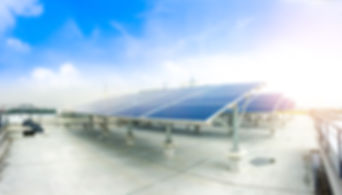 Soft Focus Of Solar Panels Or Solar Cell