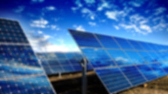 Solar Panels Modules And Blue Sky With C