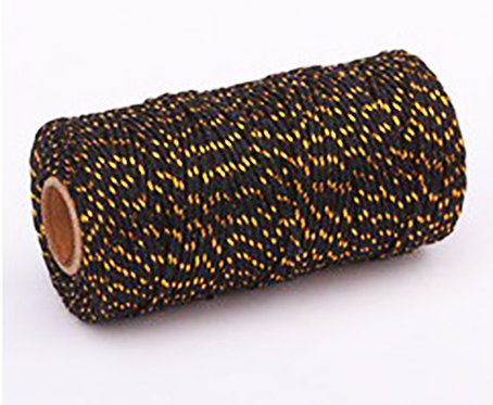 Butchers Twine - Black / Gold