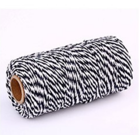 Butchers Twine - Black / White