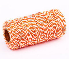 Butchers Twine - Orange / White