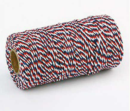 Butchers Twine - Red / White / Blue