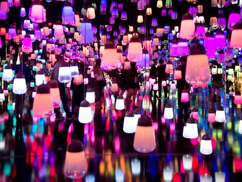 Forêt de lampes résonnantes