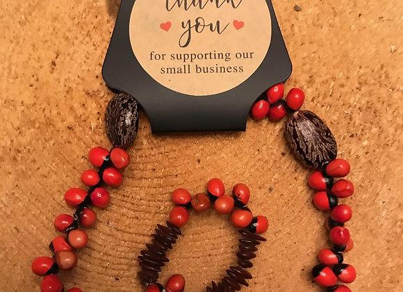 Organic Wooden Beaded Bracelet
