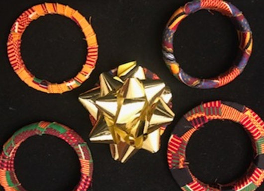 Multi-color Fabric Bracelets
