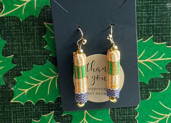 Cylindrical Fabric Earrings