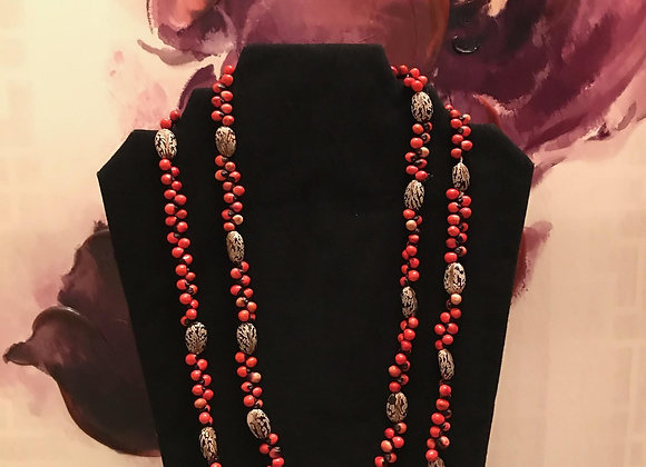 Mixed Organic Beaded Necklace