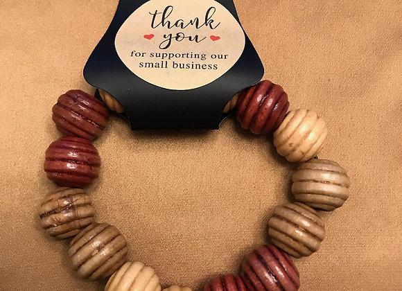 Ribbed Beaded Bracelets