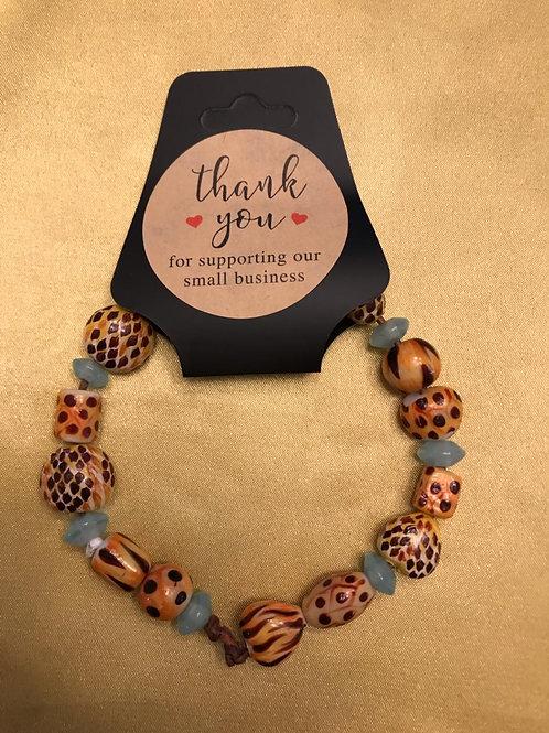 Animal Print Beads Bracelet