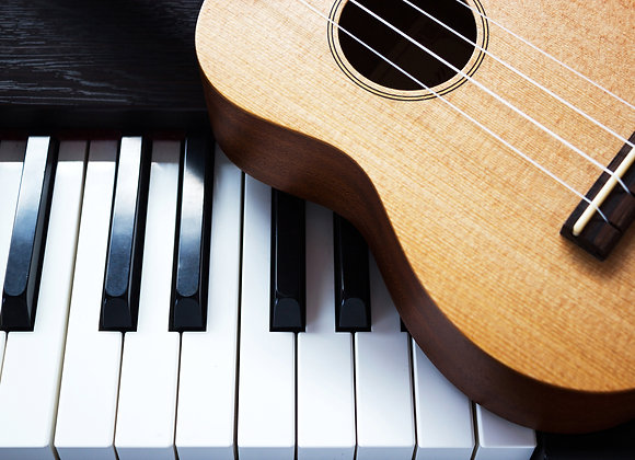 30-Min Private Lesson (Piano or Guitar): Annual Membership + 1st Month Tuition
