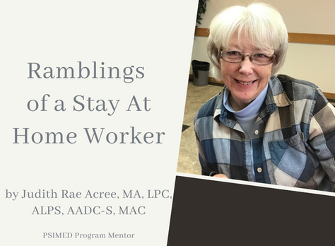 Ramblings of a Stay at Home Worker
