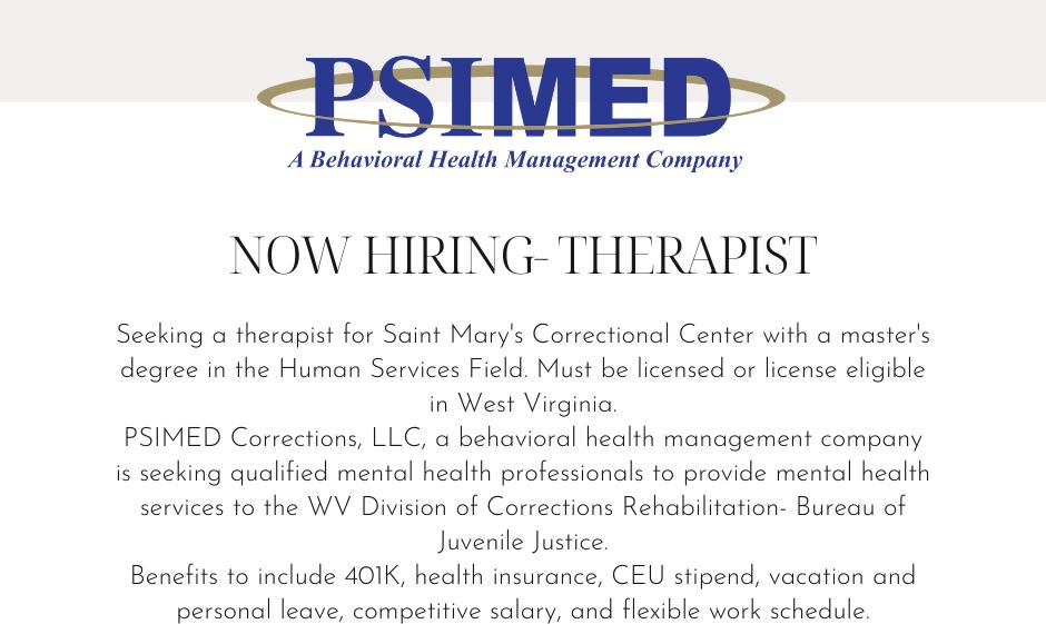 Hiring Therapist SMCC