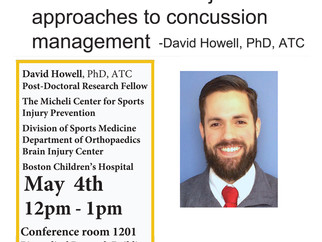 May 4th 2017 - Speaker event: Multifaceted and objective approaches to concussion management