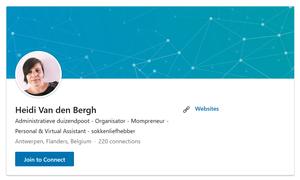 Profile header LinkeIn