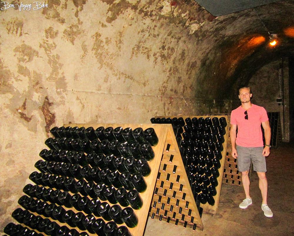 Taittinger Champagne Cellar