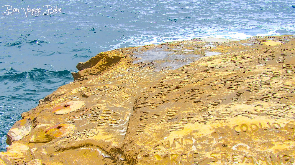 Carvings in limestone at St. Peter' Pool