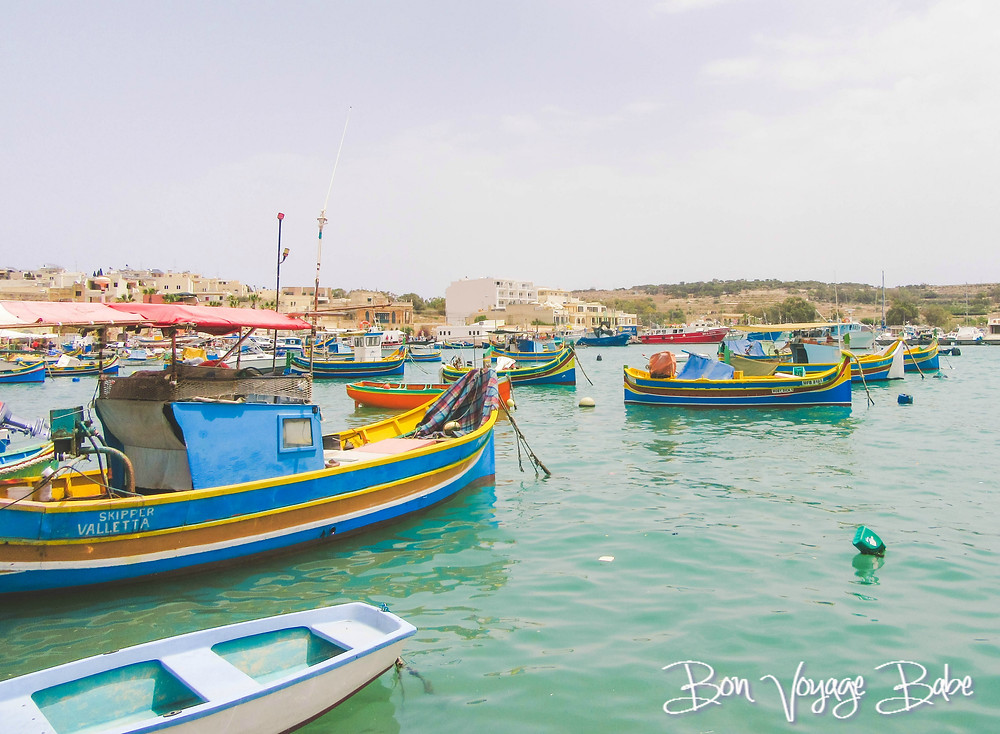 Boats at Marsaxlokk, Malta