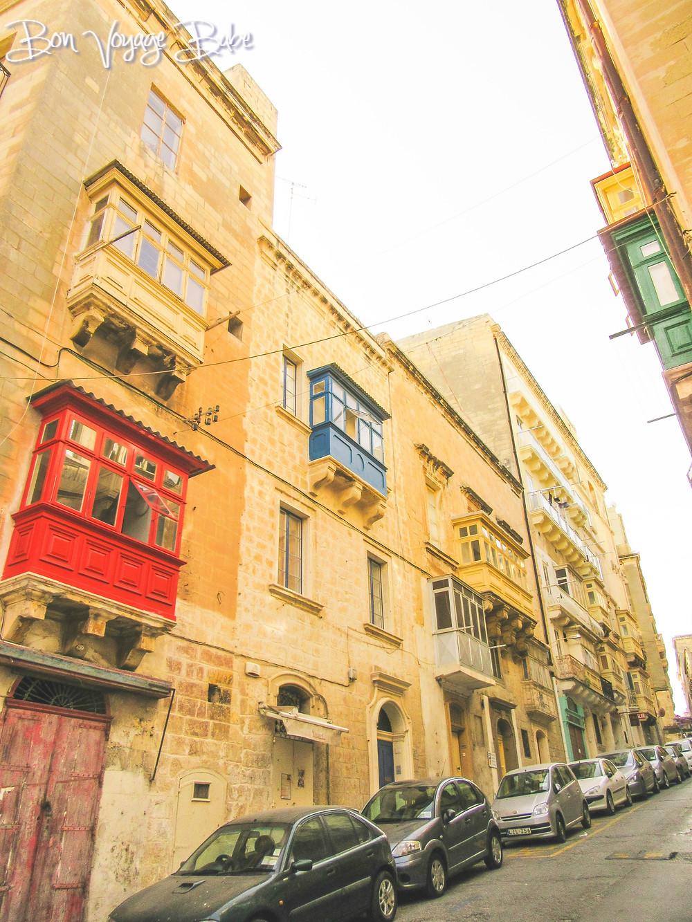 Valletta Malta Window Boxes Architecture Design