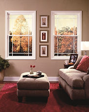 Picture of double hung windows.