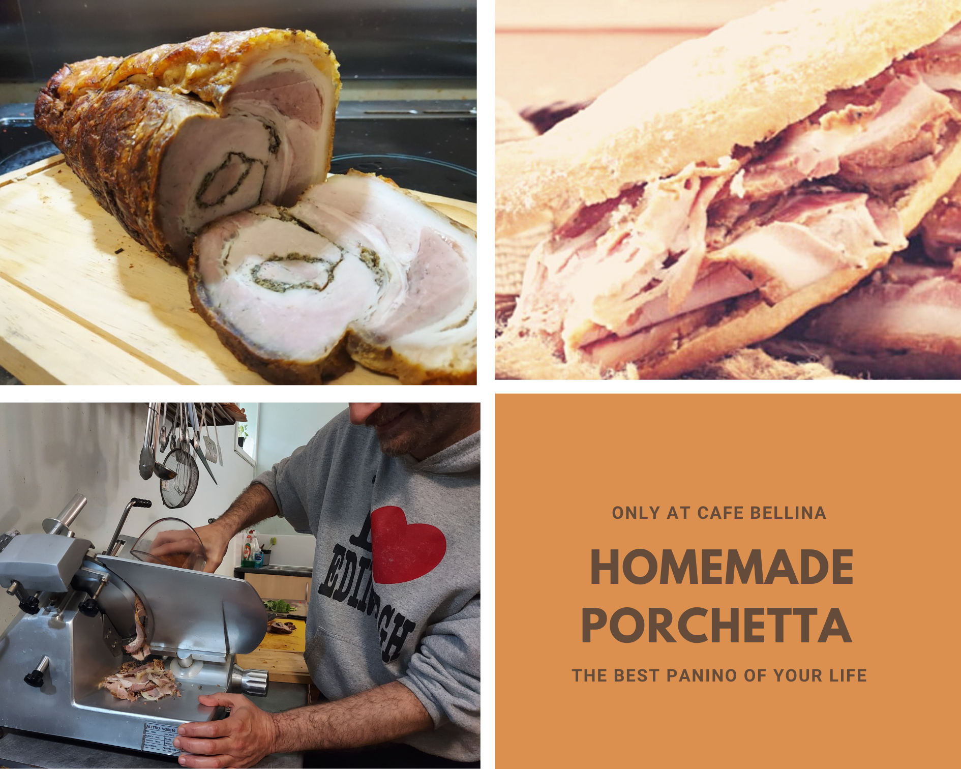 Homemade porchetta Panini