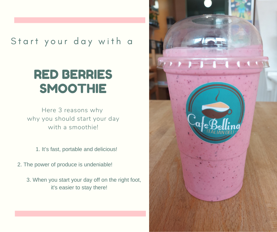 Red berries Vegan smoothie