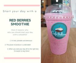 Red berries Vegan smoothie