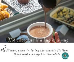 Hot chocolate an hug in a mug