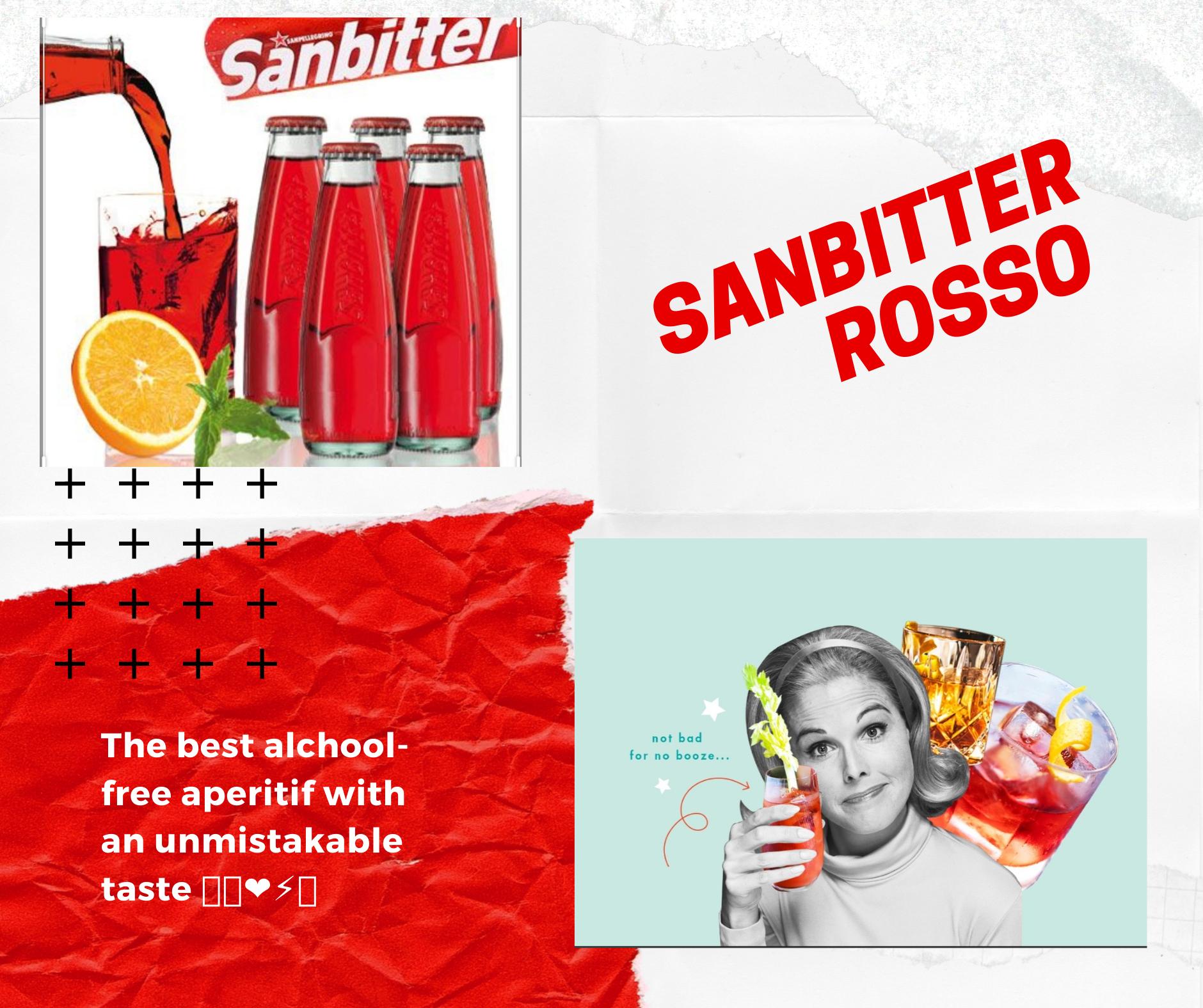 Sanbitter rosso aperitivo Italiano