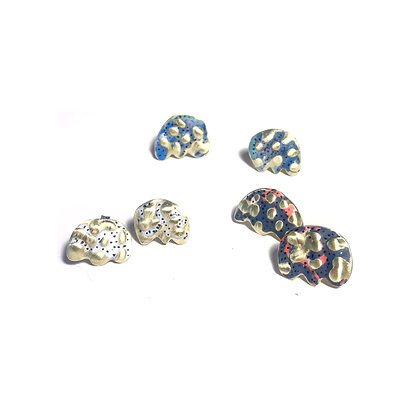 Small colorful flower earrings