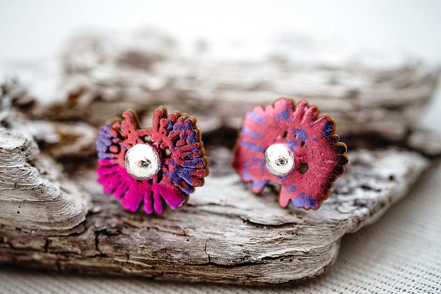 Celulas pequeñas · rosas y violetas