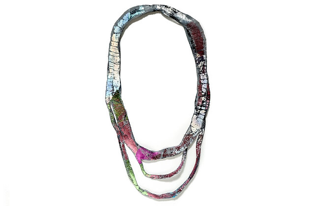 Textures fabric necklace