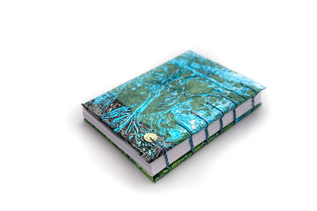Notebook with recycled plastic cover
