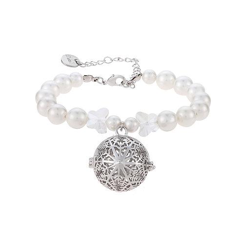 Crystal Pearl Snowflakes Bracelet